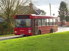 Winter sun: Trustybus (ex Metrobus 276) Dennis Dart/Plaxton Pointer MPD SN03YBK Pennington Lane Stansted Mountfitchet 02/02/18 (TheStanstedTrainspotter) Tags: bus buses stanstedmountfitchet stansted public transport publictransport bishopsstortfordinterchange elsenham trustybus galleontravel ecc essexcountycouncil contract 7 7a dennis dart dennisdart mpd minipointerdart goahead metrobus goaheadmetrobus sn03ybk red london tfl penningtonlane bentfieldgreen 276