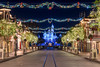 Peace on Main Street (orlandobrothas) Tags: disneyland mainstreetusa sleepingbeautycastle garland christmas 2017 partnersstatue waltdisney anaheim california nikond500 nikkor