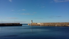 Buckie Harbour, Buckie, Moray Coast, Feb 2018 (allanmaciver) Tags: blue skies seas moray coast calm beautiful north scotland harbour light pier wall protection solid weather allanmaciver