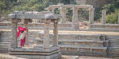 ancient beauty (sami kuosmanen) Tags: history hampi india intia ancient empire vijayanagara woman rock red ruins beautiful asia travel unesco world heritage