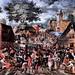 IMG_0503FA David Vinckboons 1576-1632. Amsterdam Fête paysanne ou kermesse. Peasant festival or fair. Quimper. Musée des Beaux Arts.