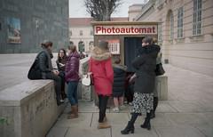 Photoautomat (Monkeypainter) Tags: film wien summicron35 kodak photoautomat m2 leica portra400 vienna street