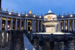 Fontana di piazza San Pietro (ianclo) Tags: roma italy san pietro vaticano fontana colori colors sunset