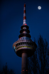 Fernsehturm Mannheim bei Nacht.jpg (Knipser31405) Tags: 2018 luisenpark fernsehturm winter orte mannheim badenwürttemberg deutschland de