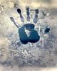 Hi (Chancy Rendezvous) Tags: hi hello wave hand print frost icy ice winter cold window door