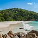 Beach Anse Georgette, Anse Georgette, Praslin Seychelles islands