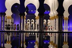 Grand Mosque, Abu Dhabi, UAE. Exterior view. (Subrata_AD) Tags: canonef85mmf12liiusmlens canoneos5dmarkiv canonprimelens lighting nightphotography stilllifephotography monument architecture seikhzayedmosque grandmosque uae abudhabi placestoseeinabudhabi thingstoseeinabudhabi