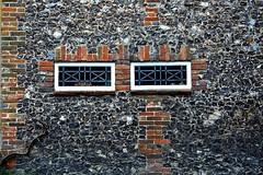 Windows in a flint wall (Snapshooter46) Tags: monksrisborough windows flintwall cottage architecture buckinghamshire