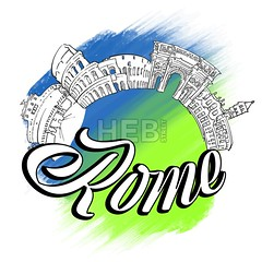 Rome Skyline Landmarks Logo (Hebstreits) Tags: amphitheatre architecture art background banner building business capital city coliseum colored colosseum country design europe european famous forum graphic history icon illustration isolated italian italy landmark logo monument old roman rome symbol tourism travel vacation vector web