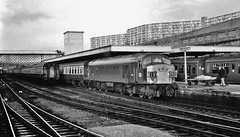 Sheffield - 47 years ago (paul_braybrook) Tags: sulzer type4 class45 diesel peak sheffield southyorkshire railwaystation trains