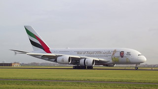 Airbus A380-842 c/n 239 Emirates registration A6-EUV