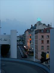 lyon-3202-ps-w (pw-pix) Tags: evening night dark bluehour lights colours buildings viewfromgaredulyonperrache perrache lyon auvergnerhonealpes france europe europe2006 europeandscandinavia2006