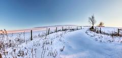 8R9A0820-23PRtzl1TBbLGERGM (ultravivid imaging) Tags: ultravividimaging ultra vivid imaging ultravivid colorful canon canon5dm3 scenic sky snow farm fields winter path painterly evening lateafternoon twilight pennsylvania pa panoramic landscape vista sunsetlight