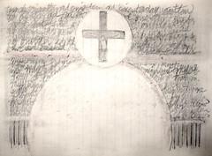 ad orientem (giveawayboy) Tags: pencil crayon eraser drawing sketch art fch tampa artist giveawayboy billrogers eucharist catholic adorientem holy
