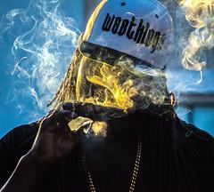 Smoking Colors (c.sorelle) Tags: hiphop rapper black white bnw longbeach california cali westcoast yungzeke kingcodac twista snoopdogg snoop mood moody studio music musicians radio radioshow