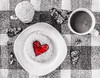 Sweet Indulgence (lclower19) Tags: painterly telford red 522018 752 white black bw food cookie bark sugar coffee plate cup selectivecolor chocolate indulgence sweet