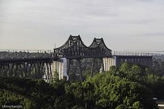 Rendsburg Railway Bridge, Germany (peterkaroblis) Tags: eisenbahnbrücke rendsburg schleswigholstein ballonfahrt balloonride geometrie geometry