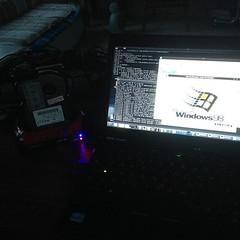 Booting an old hard disk connected to USB adapter via virtualbox holocaust under DEVUAN GNU/Linux #devuan #datarecovery #win98 (Museo dell'Informatica Funzionante) Tags: musif miai freaknet dyneorg trasformatorio