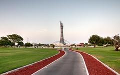 Aspire Park (Ziad Hunesh) Tags: zhunesh canon sigma road park doha qatar torchtower aspire trees