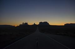 Outlaws (JasonCameron) Tags: monument valley utah navajo arizona border night dusk evening sundown sunset light blue hour road drive tour butte bluff plateau