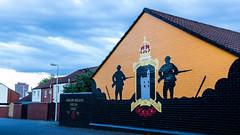 UK - Northern Ireland - Belfast - Shankill Road - Unionist Mural (Marcial Bernabeu) Tags: marcial bernabeu bernabéu uk greatbritain unitedkingdom northernireland irish northern ireland wall art street painting mural graffiti belfast shankill road reinounido granbretaña irlanda norte irlandesa arte calle pintura unionista loyalist unionist
