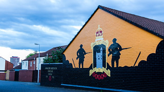UK - Northern Ireland - Belfast - Shankill Road - Unionist Mural