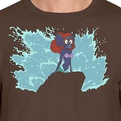 The Little Merman (sherwoodscot) Tags: littlemermaid merman tshirt tshirtdesign parody funny funnytshirt heman cartoon graphicdesign 80s