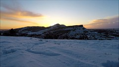 winter sunrise (andrewmckie) Tags: gopro goprohero5 edinburgh arthursseat caltonhill sunrise winter snow outdoor timelapse explored