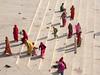 Colorful women on the ghats Pushkar (Dick Verton ( more than 12.000.000 visitors )) Tags: pushkar varanasi