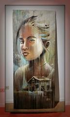 Girl Dreams (collage42 -Pia-Vittoria//) Tags: portrait ritratto alicepasquini painteddoor girl volto face