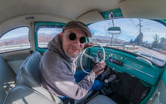 Sunday Drive (The.Mickster) Tags: self wideangle portrait 1962 classic fisheye bug randy 365 auto volkswagen vw car