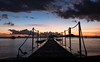 Le ponton de la Malendure (Nadia (no awards please !)) Tags: plage beach malendure guadeloupe bouillante nuit night ciel sky le ponton