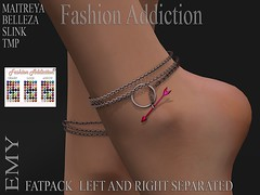 EMY ANKLETS (Owner Fashion Addiction) Tags: shoes anklets belleza maitreya slink freya venus isis hourglass physique fashionaddiction tmp secondlife