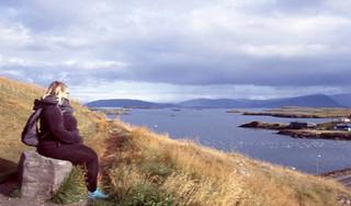 Margaret Looking Over Stykkishólmur