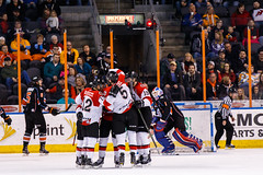 """Kansas City Mavericks vs. Cincinnati Cyclones, February 2, 2018, Silverstein Eye Centers Arena, Independence, Missouri.  Photo: © John Howe / Howe Creative Photography, all rights reserved 2018. • <a style=""""font-size:0.8em;"""" href=""""http://www.flickr.com/photos/134016632@N02/28338153499/"""" target=""""_blank"""">View on Flickr</a>"""