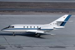 Soc. Aliadria Dassault Falcon 20 D-CELL (c/n 201) (Manfred Saitz) Tags: salzburg airport szg lows aliadria dassault falcon 20 fa20 dcell dreg