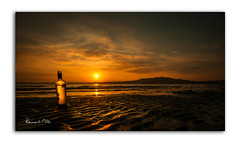 Message In A Bottle (RonnieLMills) Tags: sunset setting sun evening light reflecting reflections bottle shore messageinabottle thepolice strangford lough scrabo tower portaferry road newtownards