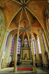 Chœur de l'abbaye d'Auxerre (jjcordier) Tags: choeur abbaye auxerre yonne bourgogne église vitrail arche