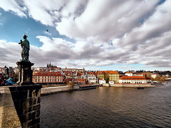 Prague (Petr Horak) Tags: city capital prague czechia europe bridge castle river vltava moldau bohemia sky winter clouds statue gothic cze landscape praha
