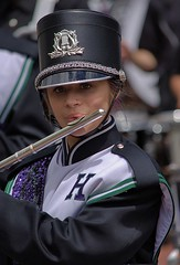 Flautist (Scott 97006) Tags: female musician uniform highschool parade flute band marching