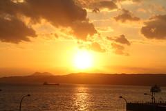 IMG_3888 (jumppoint5) Tags: kure japan hiroshima sunset dusk light shadow reflection silhouette contrast cloud sun boat ship