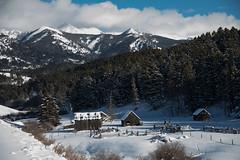 The Old Homestead (Kim Tashjian) Tags: homestead winter snow ranch crazymountains montana