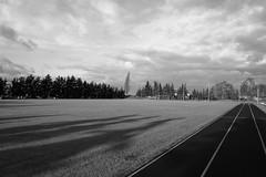 Wintersport (Rene_1985) Tags: leica q typ116 28mm summilux wide angle weitwinkel sw schwarz weis bw monochrom sportplatz rasen shadows schatten