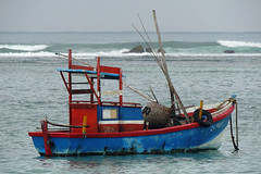 Weligama - Sri Lankan Fishing Boat (Drriss & Marrionn) Tags: travel srilanka ceylon southasia outdoor seaside tropics coastline weligama coast sea sand water tropical seascape ocean boat fishingboats sky surf