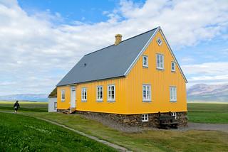 The yellow house in Glaumbær in Skagafjörður, Iceland