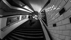 MC Peleng 8 mm f/ 3.5 A ( МС Пеленг 3,5/8А ) - DSCF5749 (::Lens a Lot::) Tags: mc peleng 8 mm f 35 a paris | 2017 fisheye darkness underground noise night light street streetphotography bw black white monochrome vintage manual prime fixed length classic lens ruelle personnes route bâtiment metro subway gate station lignes train plafond russian architecture fenêtre