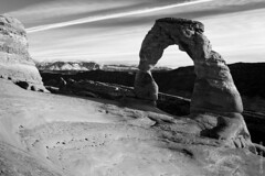 The Delicate Arch On The Sunset, Utah, United States (thedot_ru) Tags: delicatearch arch archesnationalpark park colorado utah unitedstates usa travel adventure mountain formation sky cloud skyporn view blackandwhite bw canon5d 2015