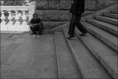 drd160901_0684 (dmitryzhkov) Tags: russia moscow documentary street life human monochrome reportage social public urban city photojournalism streetphotography people face streetportrait bw rogue beggar seat sit step stair dmitryryzhkov blackandwhite portrait everyday candid stranger
