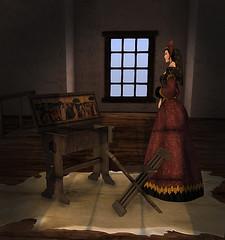 F&M * Medieval Vanity Table (FANTAVATAR & MOONSTRUCK) Tags: medievalvanitytable secondlife fantavatarmoonstruck oblivion weloveroleplay wlrp