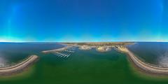 Port Vincent marina (leemerchant) Tags: port vincent marina yorke peninsula dji mavic boating sea equirectangular
